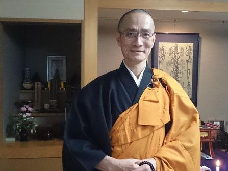 写真:僧侶の斎藤大法さん