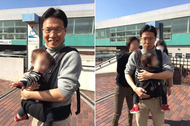12キロの2歳児が乗ったベビーカーに加えて、8キロほどの乳児を抱っこ