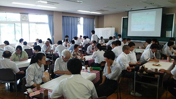 柴田高校の高校生とのワールドカフェ