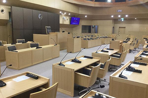 五所川原市議会の新しい議場