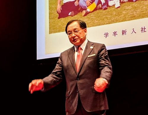 次の100年へ向け、未来への案内役となることを宣言した帝人鈴木純社長