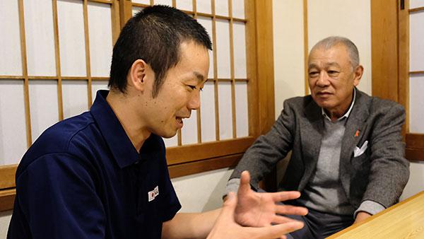 岩本悠さんと笹川陽平 日本財団会長