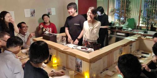 きっかけ食堂の原田奈実さん、弘田光聖さん