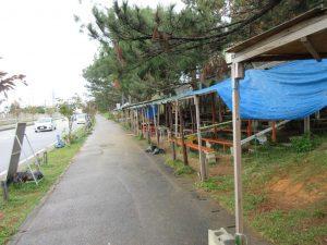 反対派のテント村