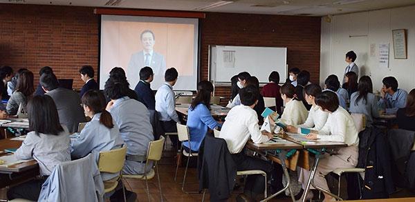 日野市大坪冬彦市長による研修時のビデオメッセージ