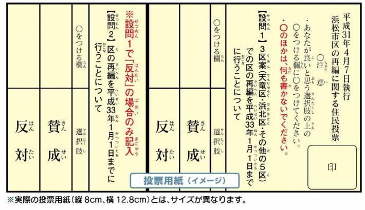 投票用紙イメージ