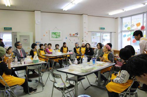 ボランティアメンバーによる反省会(当時)