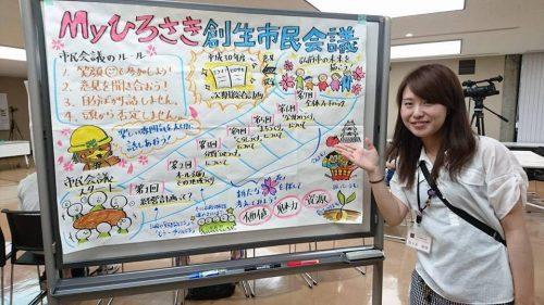 職員グラフィッカーの弘前市佐々木さん
