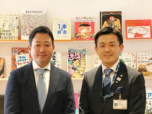 菅原文仁 戸田市長(右)と笹川順平 日本財団常務理事(左)