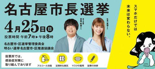 名古屋市長選挙バナー